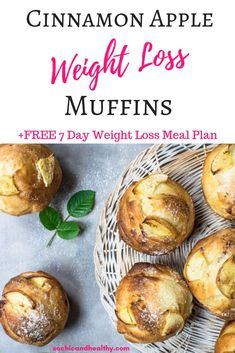 apple weight loss muffins. Delicious breakfast on the go, great for meal prepping. Clean eating recipe for weight loss. Gluten free, dairy free, whole 30 approved, keto diet approved. Healthy breakfast recipe for kids. Repin to remember. #keto #weightloss #mealprep #easybreakfastrecipes #kidfriendly Healthy Breakfast Recipes, Healthy Snacks, Healthy Recipes, Keto Snacks, Lunch Recipes, Free Recipes, Keto Recipes, Clean Eating Recipes For Weight Loss, Weight Loss Meal Plan