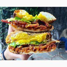"""Back in my hood - doin my thang  #iactuallyatethat #EEEEEATSLA #EEEEEATS #gjelina #venice #BEC #breakfast #brunch #yolkporn #eggporn #bacon #foodie #foodblog #foodgasm #forkyeah #foodintheair #feedyoursoul"" Photo taken by @i_actually_ate_that on Instagram, pinned via the InstaPin iOS App! http://www.instapinapp.com (06/13/2015)"