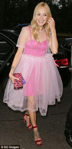 Fearne Cotton wearing a gorgeous Molly Goddard dress