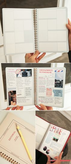 This 160 page scrapbook can also be used as a unique way to take notes for classes or projects, especially useful for visual learners! The block style layout is a great way to keep all your notes for class super organized. Good for travel journal