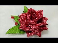 89) Tutorial Kanzashi Rose || Mawar Kanzashi || Ribbon Rose || Kanzashi Flower - YouTube