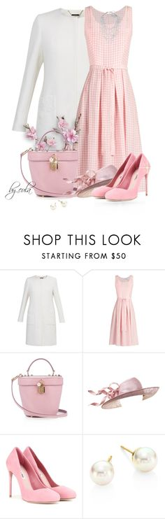 """""""Wear it in Gingham (Outfit Only)"""" by eula-eldridge-tolliver ❤ liked on Polyvore featuring Ted Baker, HVN, Dolce&Gabbana, Philip Treacy, Miu Miu, Majorica and Phase Eight"""