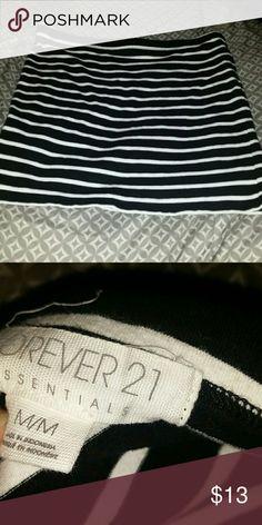 Forever 21 mini stretchy striped skirt Forever 21 mini stretchy striped skirt 92% cotton 8% elastane Forever 21 Skirts Mini