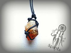 Raw Citrine Necklace/Boho Crystal by YoungNFreeSpirits on Etsy