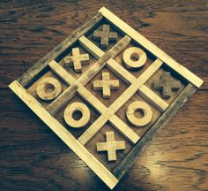 Rustic Wooden Tic Tac Toe Board Made From Re Purposed Pallet Wood