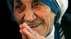 Vorbild: Mutter Teresa im Jahr 1997
