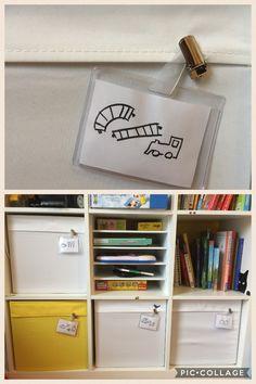 DRÖNA Boxen beschriften / Label DRONA boxes / IKEA hack / Kallax / Expedit, Aufräumen Kinderzimmer