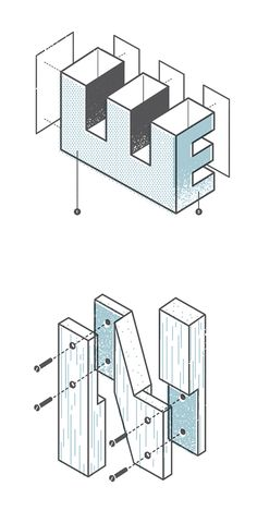 The Exploded Alphabet by Matt Stevens | Inspiration Grid | Design Inspiration