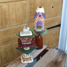 Handmade Recycled Garden Totems by GlassGardenGorgeous on Etsy, $34.00