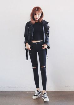 Torn Skinny Jeans | Latest Korean Fashion | K-pop Styles | Fashion Blog