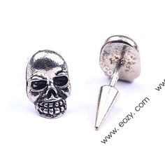 Eozy Clearance Skull Alloy Taper Awl Screw Back Ear Stud Men Earrings Punk Jewelry, Jewelry Gifts, Fashion Jewelry, New Fashion Trends, Ear Studs, Punk Fashion, Cufflinks, My Style, Skulls