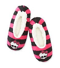 Monster High Pink Striped Slippers