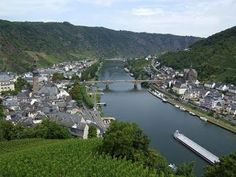 Cochem the capital of the district Cochem-Zell in western Germany