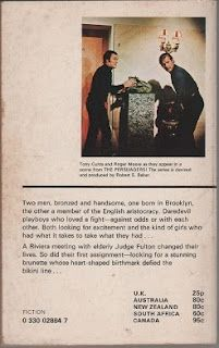 The Persuaders, book one, back cover. Tony Curtis and Roger Moore.