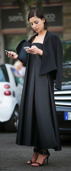 Bibi Bevza before Jil Sander Milan Fashion Week 2014 Spring Summer