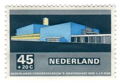 Modern dutch architecture stamps 1969 - Univers