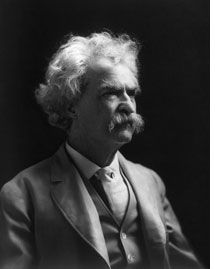 """Mark Twain's Top 9 Tips for Living a KA Life!  """"It's no wonder that truth is stranger than fiction. Fiction has to make sense.""""...""""Let us live so that when we come to die even the undertaker will be sorry.""""...""""When your friends begin to flatter you on how young you look, it's a sure sign you're getting old."""""""