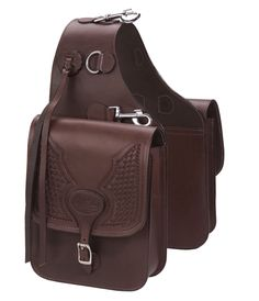 genuine black leather small throw-over western style saddlebags - Google Search