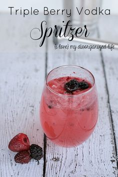 Triple berry vodka spritzer is a refreshing vodka cocktail, with a delicious combination of fresh blackberries, raspberries, and strawberries. This easy cocktail recipe is perfect for summer parties or a weekend brunch cocktail. Refreshing Summer Cocktails, Easy Cocktails, Cocktail Drinks, Fun Drinks, Yummy Drinks, Cocktail Recipes, Popular Cocktails, Beverages, Cocktail Shaker