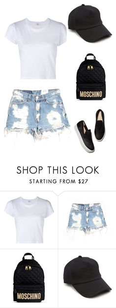 """Untitled #1"" by nevresa-muris-lapandic ❤ liked on Polyvore featuring RE/DONE, Furst of a Kind, Moschino and rag & bone"
