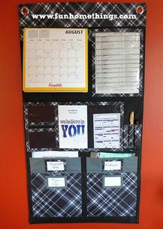 Back-To-School Organization Ideas--Wall Organizer #organization #thirtyone http://www.funhomethings.com