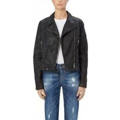The supersoft, leather-look jacket that is constructed using an Italian premium, coated denim.Subtle tailoring around the waist adds a feminine edge, creating a flattering and completely wearable jacket that will become an instant wardrobe staple.Colour: Black with an old patina. https://www.melaniepress.net/collections/coats-jackets/products/vegan-biker-jacket-by-saltspin