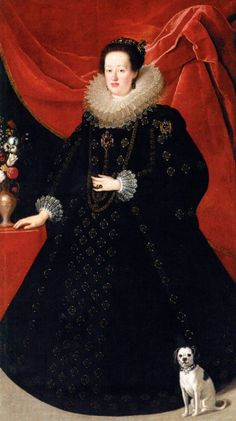 Empress Eleonora Gonzaga, second wife of Ferdinand II, Holy Roman Emperor, Archduchess consort of Austria, Queen of Germany, Queen consort of Hungary and Bohemia, painted in 1623/4 by Justus Sustermans.