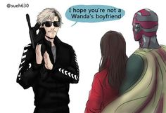 #QuicksilverLives Because I need to see this #Marvel, ok?!? Oh my god this follows my headcanon that Pietro never let any boys get close to Wanda because he is so über protective of his little sis and that he would totally use his powers to scare the daylights out of any boy who looked at her let alone dated her.