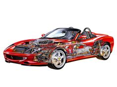 2000-01 Ferrari 550 Barchetta Pinninfarina - Illustrator unknown