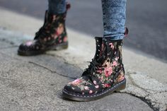 mrs-docmarten:  Floral Dr. Martens, and Why Tavi Rules | Amy Creyer's Chicago Street Style Fashion Blog on We Heart It -
