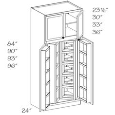 Kraftmaid pantry cabinet ...if I couldnu0027t have a separate pantry room