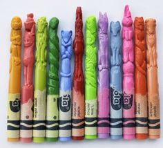 Crayola Crayon Zodiac Sign Sculptures by Diem Chau