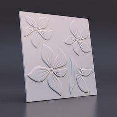 На изображении представлена - 500*500 Форма для 3d панелей «Цветок»