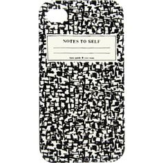 notes to self iPhone cover // kate spade.
