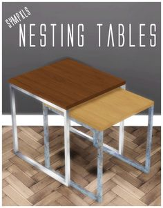 Nested End Tables by Sympxls at SimsWorkshop • Sims 4 Updates