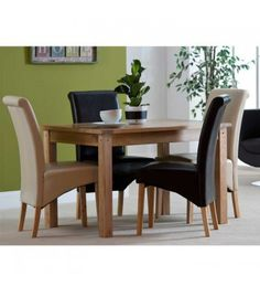 Cabos dining table, Seville dining chair, Oak, Fabric, Dining Set.