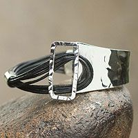 Queen of Collasuyo. Sterling silver and leather bracelet from @NOVICA, They help #artisans succeed worldwide.