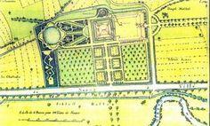 Plan du chateau de Thanvillé et des jardins, d'après le Planterier dressé en 1786 par ordre de Félix de Dartein.