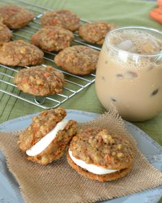 Carrot Cake Whoopie Pies - A perfect little treat for Easter and spring! www.jessfuel.com