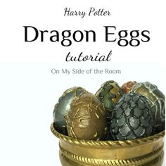 A simple tutorial to make dragon eggs using only a few supplies. Great for a party or to decorate for Halloween.