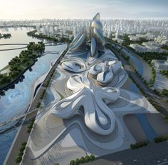 The Changsha Meixi Lake International Culture & Arts Centre, Zaha Hadid Architects, world architecture news, architecture jobs