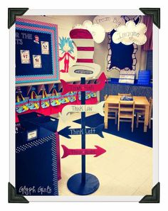 Dr. Seuss inspired classroom decor!! So cute!