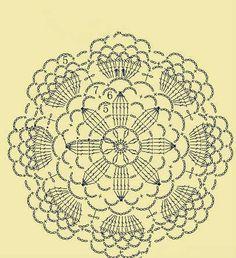 Motivo circular crochet, esquema
