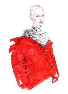 BALENCIAGA fashion illustration by Antonio Soares