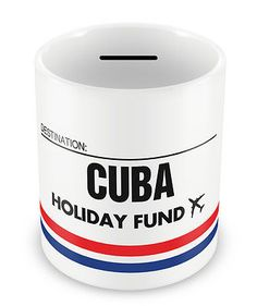 Cuba holiday fund #money box - gift idea travelling #savings #piggy bank,  View more on the LINK: 	http://www.zeppy.io/product/gb/2/221546461686/
