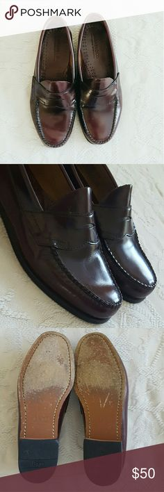 GH Bass & Co leather weejuns Great condition men's penny loafer weejuns. Dark brown leather. Classic stitching and style. Only worn about 3 times. True to size. Questions, bundles and offers welcome. Bass Shoes Loafers & Slip-Ons