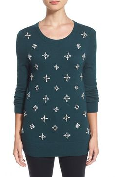 433879911429 Alternate Product Image 1 Selected Nordstrom Rack, Embellishments,  Christmas Sweaters, Crew Neck,