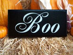 Wooden Halloween Sign, primitive wall decor