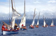 Boat race in Semana do Mar, Faial, Azores, Portugal