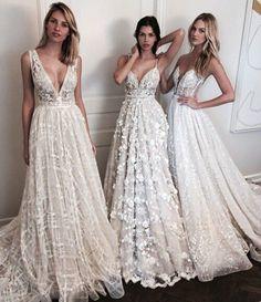 Dress: lace wedding v neck